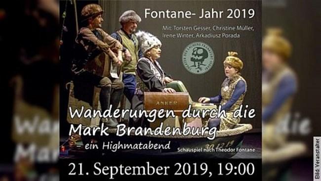 Wanderungen  durch die Mark Brandenburg - ein Highmatabend