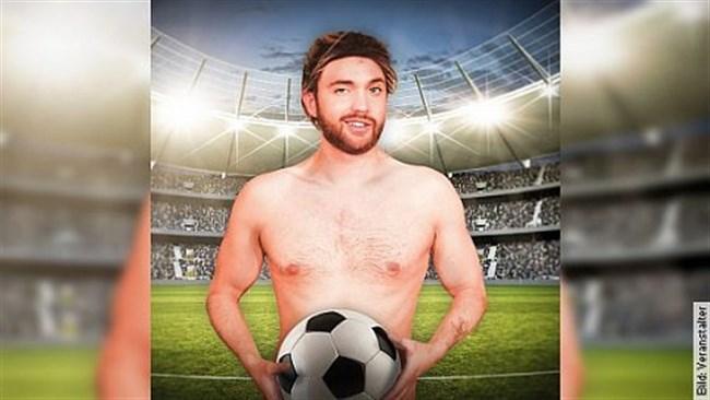 Ein Souvenir zum Verlieben ... der nackte Fußballer!