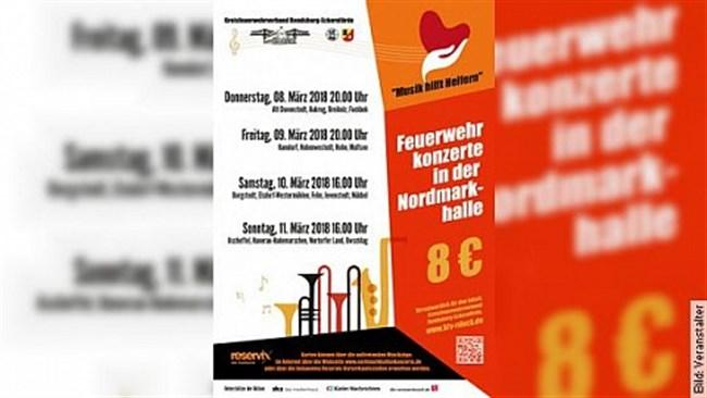 Nordmarkhallen-Konzerte - der Feuerwehr Musikzüge des Kreises Rendsburg-Eckernförde