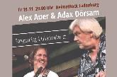 Unplugged Konzert Alex Auer & Adax Dörsam
